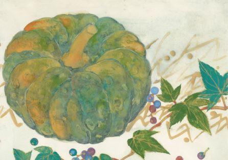 かぼちゃと野葡萄.JPG